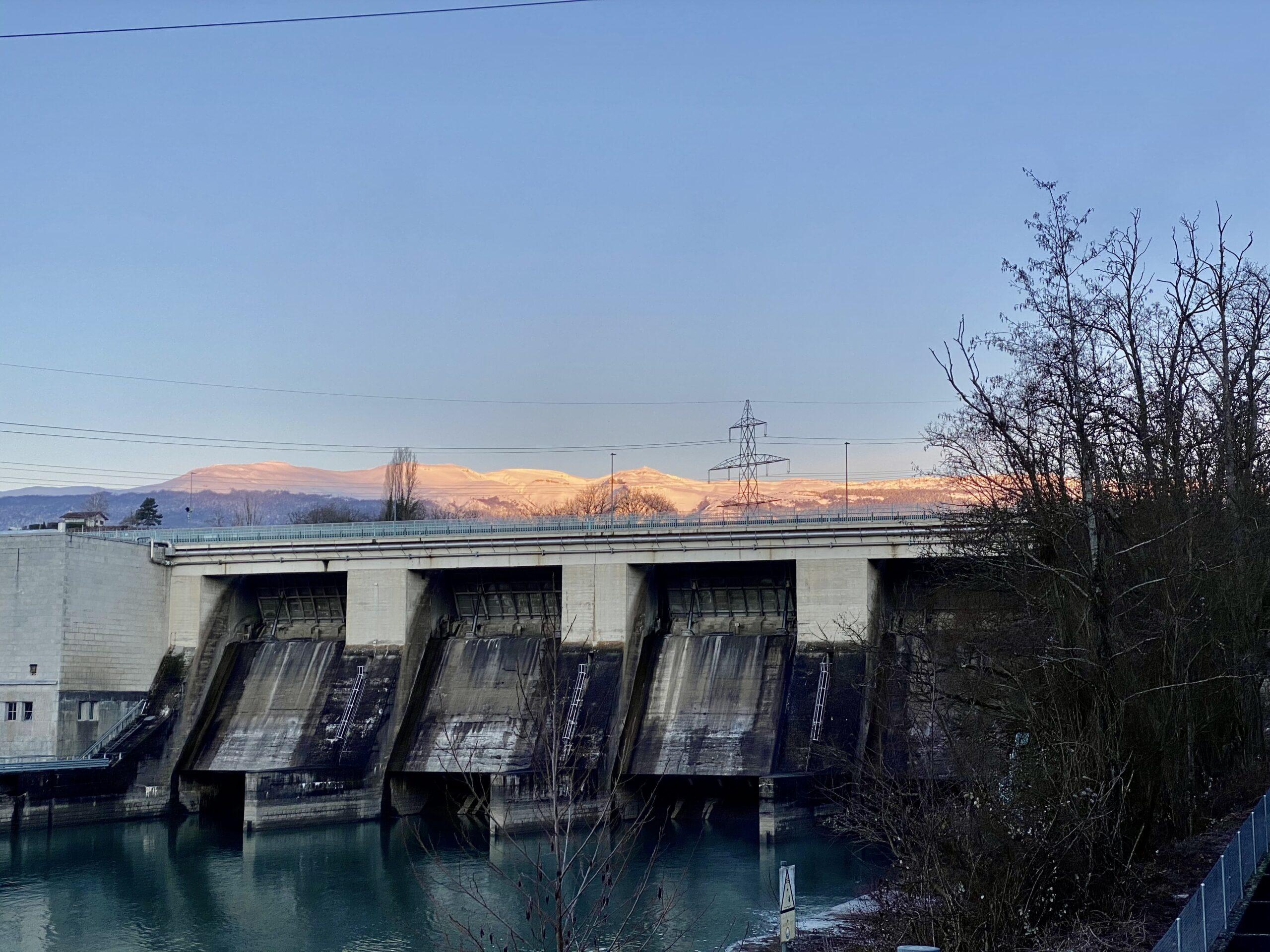 Perroy / Barrage de Verbois / Réserve naturelle du Moulin de Vert